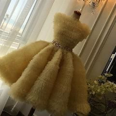 [ $20 OFF ] Fashion Yellow Bateau Ruched Tulle Golden Belt Short Cocktail Dresses