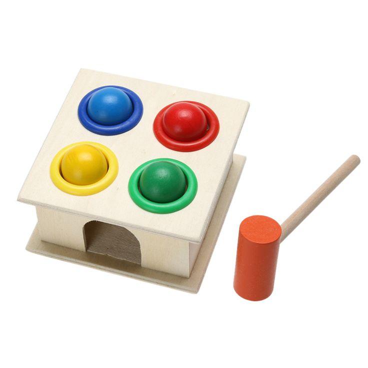 Bayi Mainan Pendidikan Bola Palu Memalu Kayu Anak Kotak Mainan Pembelajaran Awal Pengiriman Gratis