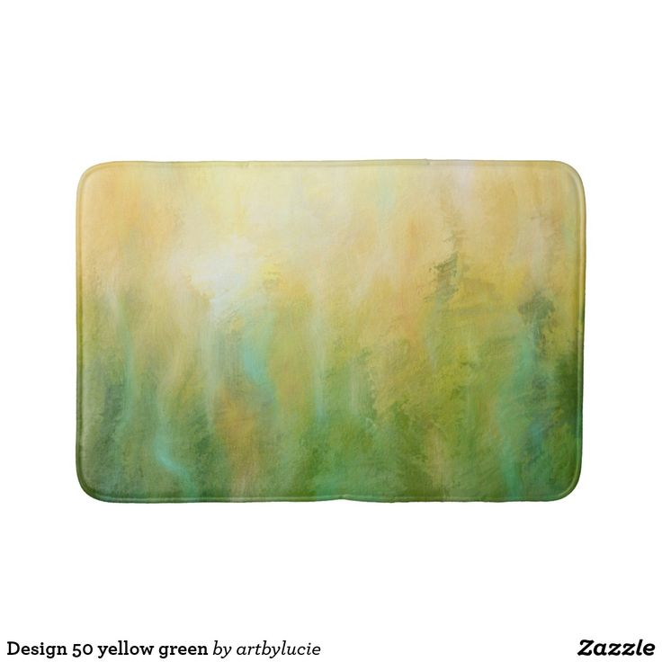 Design 50 yellow green bath mat