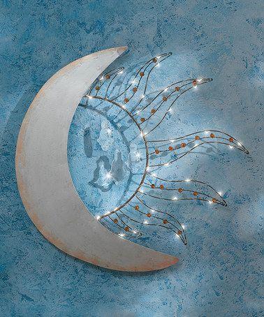 Another great find on #zulily! Celestial Sun & Moon Light-Up Wall Décor #zulilyfinds