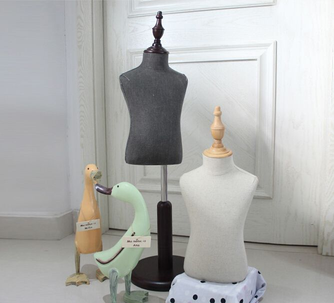 adjustable Mannequins bust for child,half body without hand mannequin,fabric flexible mannequin,M00091