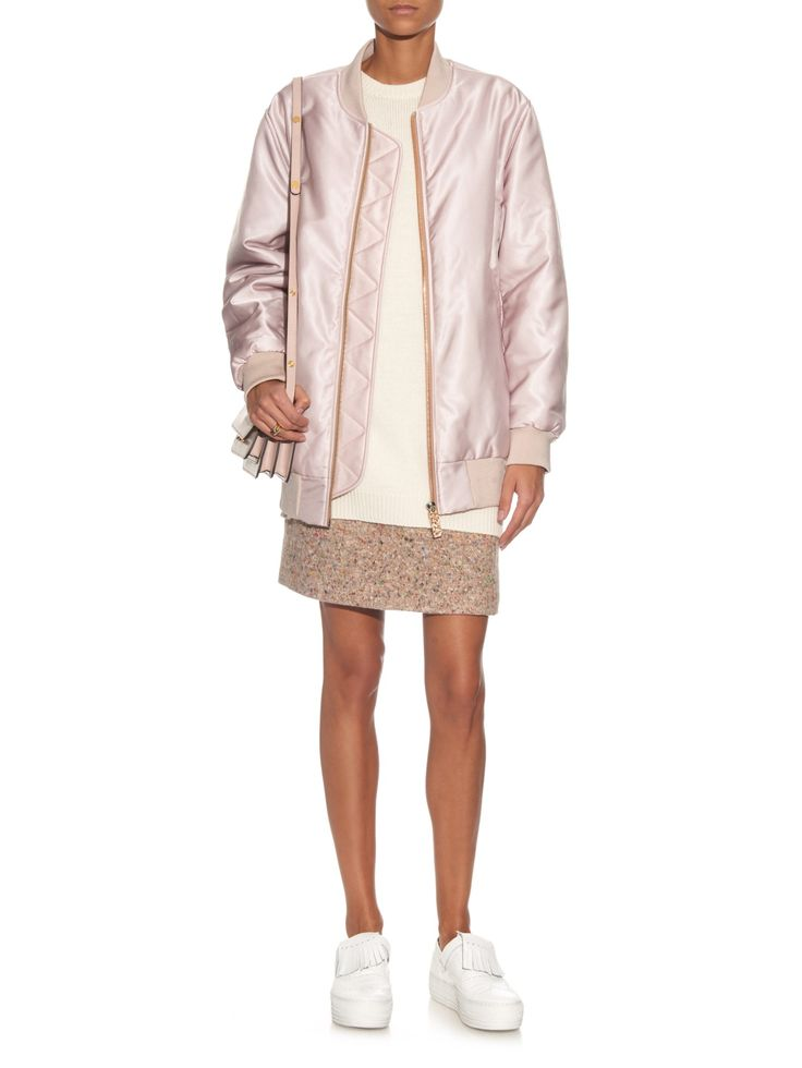 Acne Studios   Selow Pink Bomber Jacket