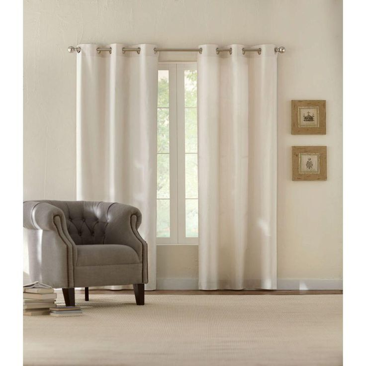 Home Decorators Collection Semi-Opaque Natural Cotton Duck Grommet Curtain