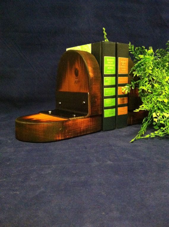 Handmade Rustic Bookends. Free US Shipping by VelveteenGarden, $39.00