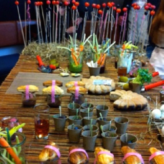 Food installation inspired by Latvian farmerlife.  Photography: Mara Skujeniece.