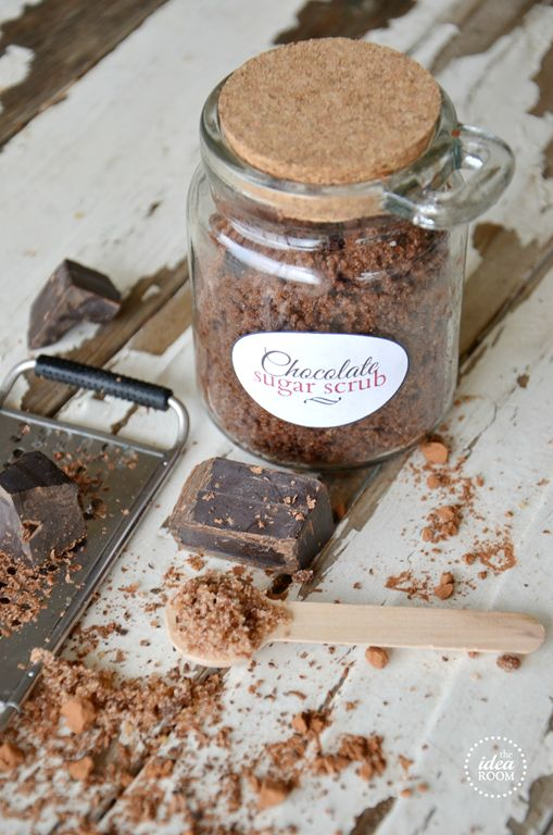 Need a great gift idea for friends and family? Make this Chocolate Sugar Scrub. It smells amazing and leaves your skin silky smooth and well...chocolate-y!
