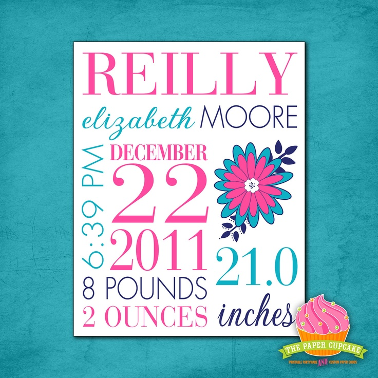 32 best Birth announcement wall art images – Cheap Photo Birth Announcements