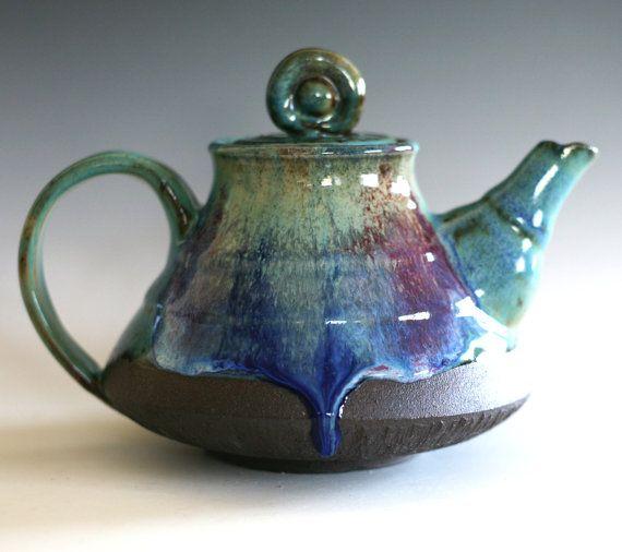 Tetera de cerámica hecha a mano tetera gres hechas a por ocpottery
