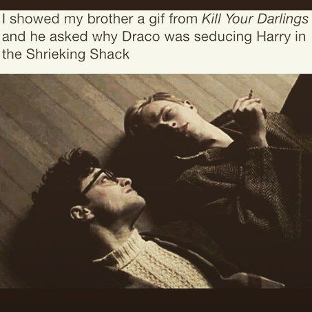Kill You Darlings is . Daniel Radcliffe acts, in my humble opinion, much better in it than in the Harry Potter films. I mean he is playing very different characters, Harry Potter is hardly an illegally gay poet but, you know?