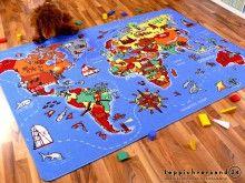 Stunning Lernen und Spielen Kinderteppich Weltkarte online kaufen