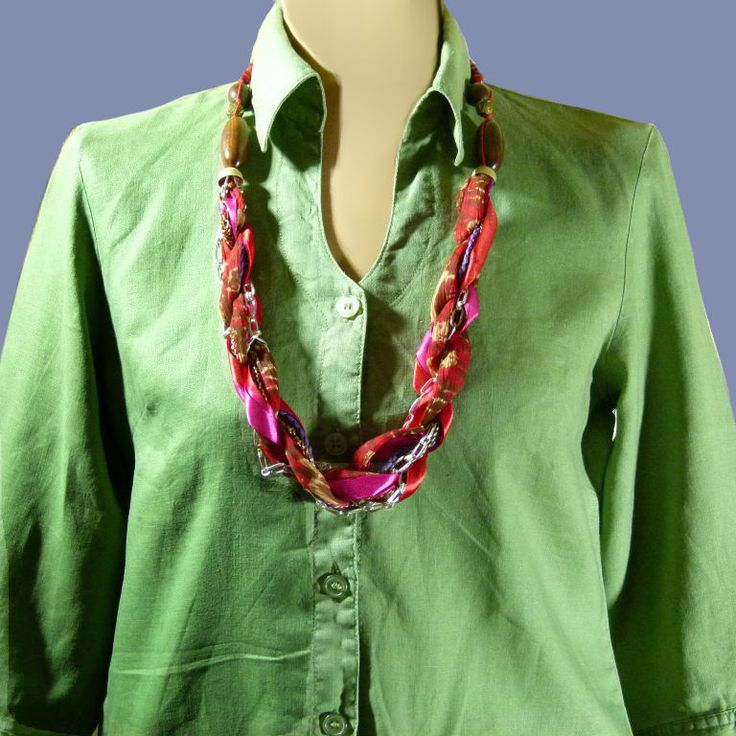 Création Bijoux Fantaisie Tissu : Images about collier vintage sautoir