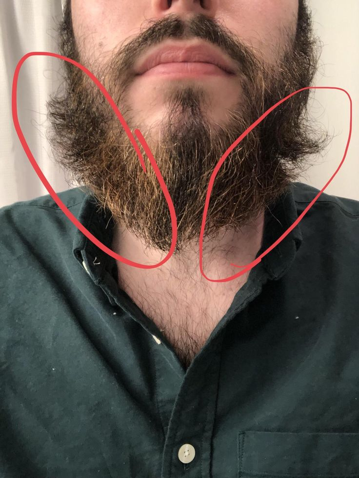 How do I stop my beard from curling up like this on my