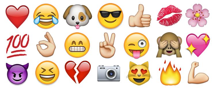 Top engaging emojis on Instagram shared often by the millenials.