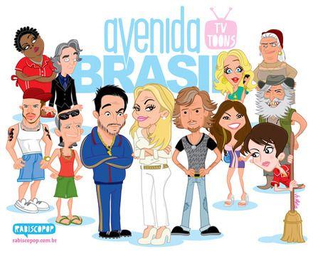 Caricatura Avenida Brasil