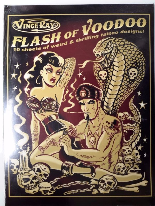 Vince Ray Flash Of Voodoo 10 Sheets Of Tattoo Designs Rockabilly ...