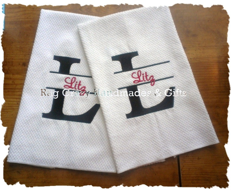 Set Of  Kitchen Towels Embroidered