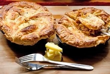 Mince and cheese pie.