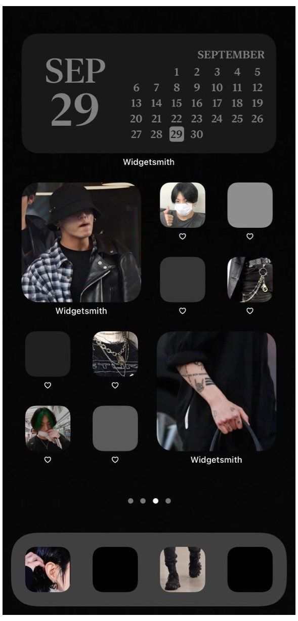 Aesthetic iphone home screen bts