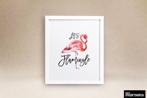 Lets Flamingle. #WallArt