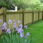 Simple Wood Picket Fence