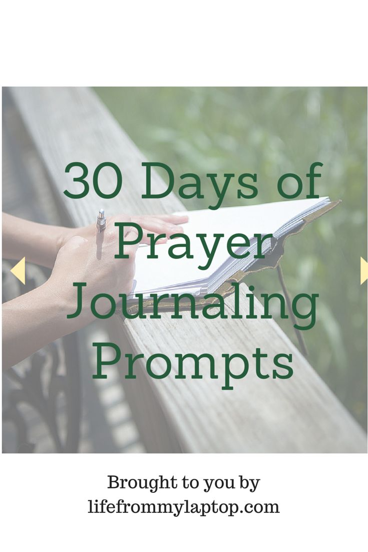 Improve your prayer life! Begin journaling with 30 days of journaling prompts