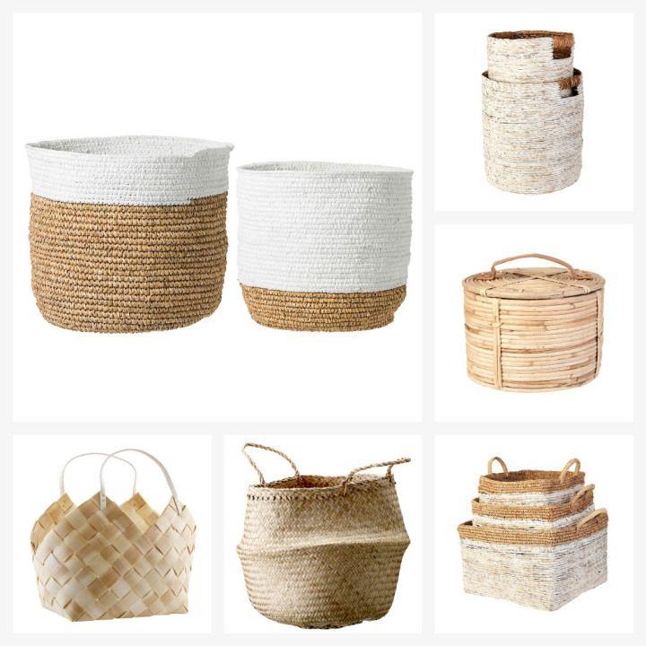 Post: Almacenaje y decoración con cestas --> accesorios hogar, cestas, cestas de tela, cestas laundry, cestas metal, cestas mimbre, cestas modernas, complementos hogar, decoracion cestas, estilo nórdico, pequeño almacenaje