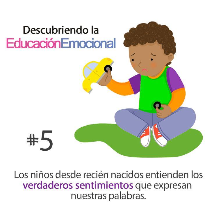 """""""Los niños desde recién nacidos entienden los verdaderos sentimientos que expresan nuestras palabras.""""  http://edukame.com/  #Cita #quote #emociones #educación #educaciónemocional #emocional #padres #familia #niños"""