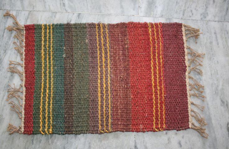 Turkish door mat jute door mat antique door mat floor mat 40x60 cm kilim rug EDH #Unbranded