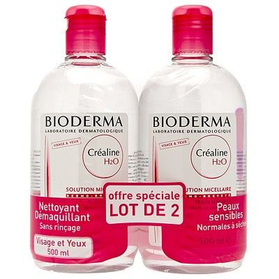 Bioderma Créaline H2o Solution Micellaire Duo 500ml - Pharmacie Lafayette - Anti-rougeurs