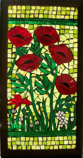 Mosaic poppies