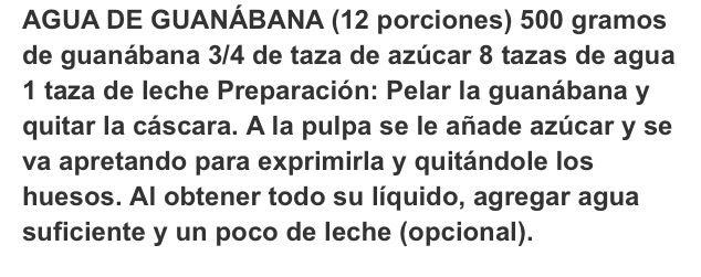 Agua de guanabana