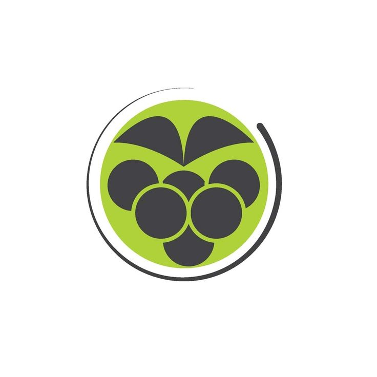 berry icon concept designed in a simple way so it can be used for multiple purposes i.e. logo ,mark ,symbol or icon.