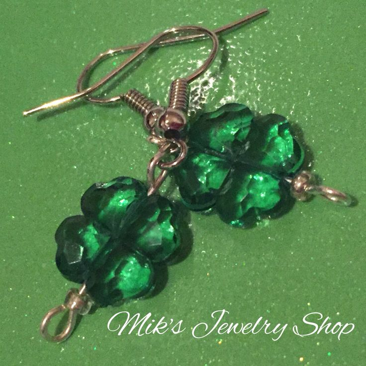 Shamrocks - Order these adorable #fourleafclover #earrings today!