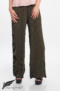 Pantalon vert militaire fluide