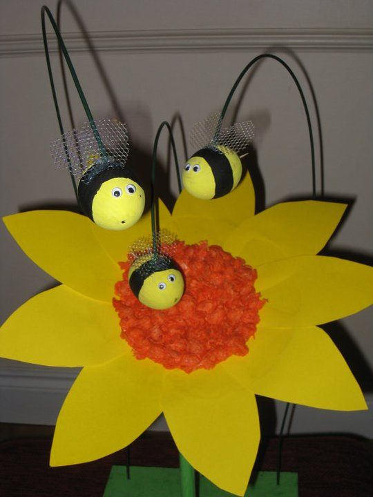 Buzzy Bee Decorated Eggs