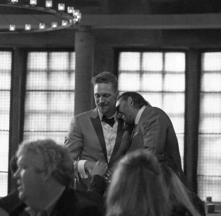 Hunter Pence and Michael Morse at Hunters wedding