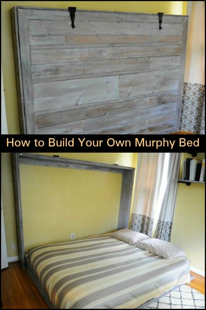 Free up floor space in your bedroom by building your own DIY Murphy bed!