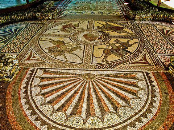 Resultado de imagen de littlecote orpheus mosaic mosaicos geom tricos i pinterest mosaicos - Azulejos roman ...