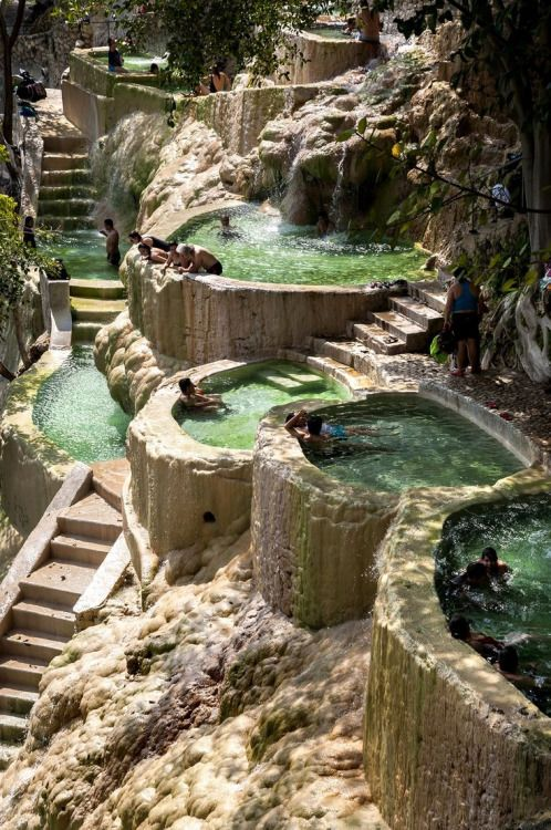 bojrk:  México: Hot water springs at Grutas de Tolantongo, Hidalgo