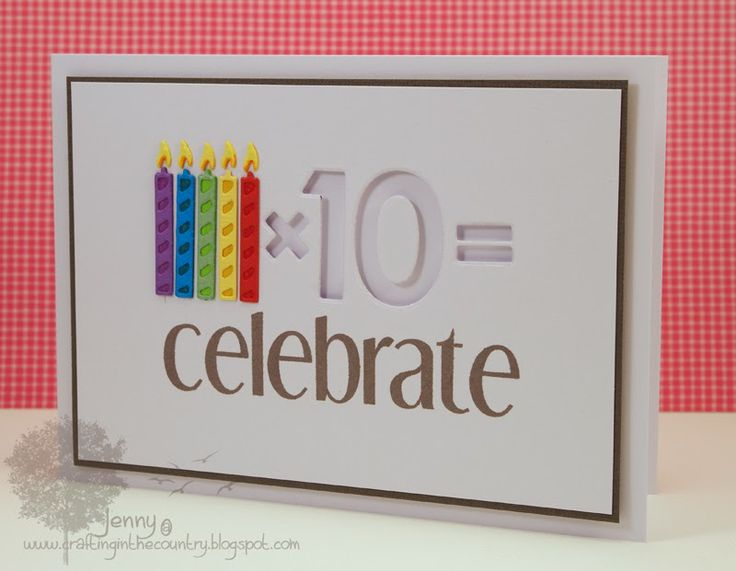 Celebrate Birthday card (WPlus9) - 50th; candles