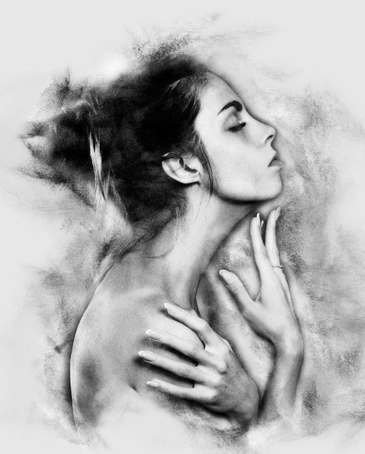 Charcoal art realistic charcoal photoshop action