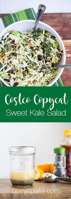 Your favorite Costco salad kit with a healthy, soy-free dressing! | salad recipes | kale recipes | paleo recipes | http://perrysplate.com