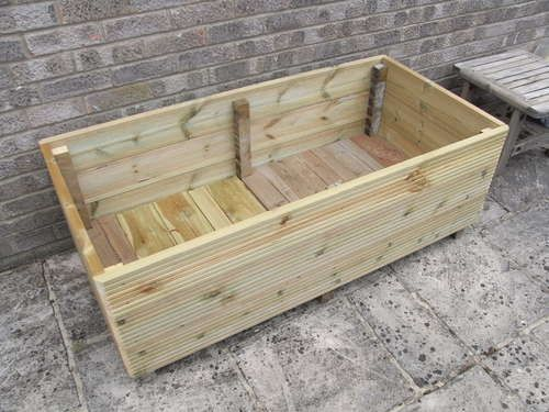 Make a Garden out of deck wood Instructables.com OR do it with pallet wood, it would work.