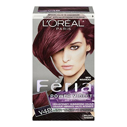 Feria Hair Color, V48, Intense Medium Violet (Packaging May Vary)