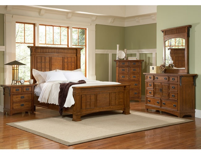 Free craftsman style furniture plans woodworking for Mission style bed plans