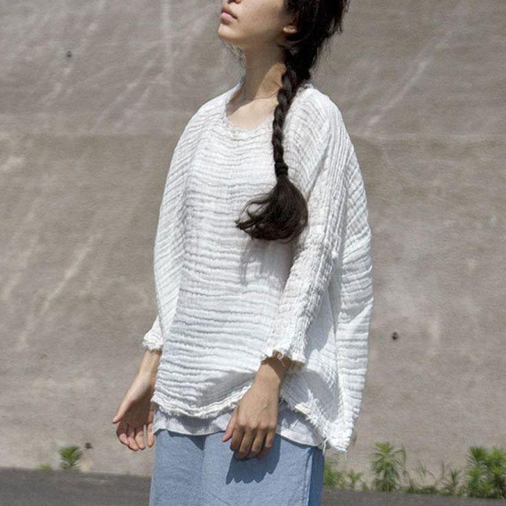 Best Women Distressed Plain White Casual Three Quarter Sleeve 400 x 300