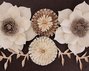 Kate Spade inspirado papel flor telón de fondo por APaperEvent