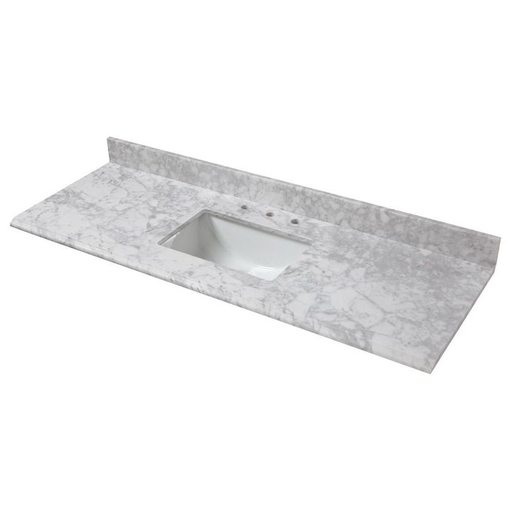 Home Decorators Collection 73 in. W x 22 in. D Marble ...