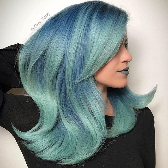 Dare to Dye Insanely Gorgeous Bold Hair Colors pastel blue hair