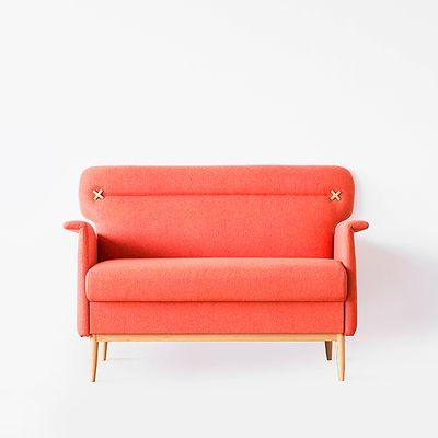 吱音 抽屉沙发小户型双人布艺沙发北欧简约咖啡厅客厅极美家具-淘宝网